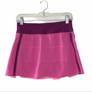 Lululemon Pink Pace Rival Skirt II 4 Tall